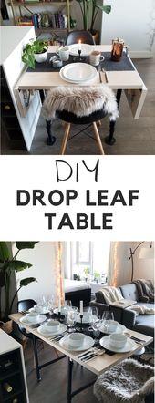 DIY Drop Leaf Table