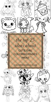 The top 25 Ideas About Cute Girl Coloring Pages Print
