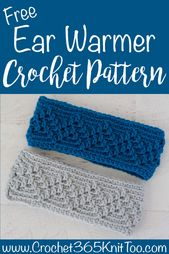 Michigan Mountain Crochet Ear Warmer – Crochet 365 Knit Too