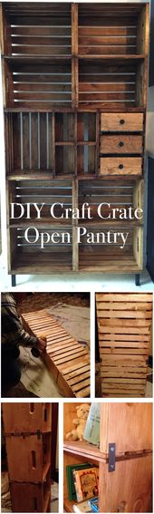19 Creative DIY Wood Crate Project Ideas | How to Repurpose Old Wooden Crates | …  – storage