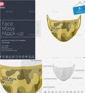 Face Mask Mockup Free Download