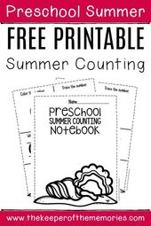 Numbers Summer Preschool Worksheets
