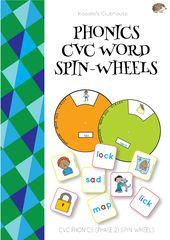 Phonics Cvc Word Spin Wheel Printable Templates Phonics Cvc Words Phonics Cvc Cvc Words