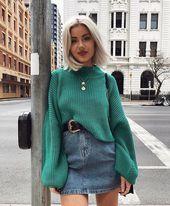 36 Fancy Winter Outfits Ideas Jean Skirts A jean s…