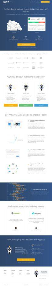 Appbot Landing Page Design Example for Inspiration | Landingfolio