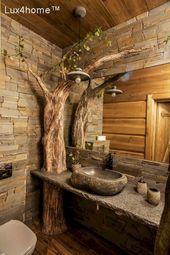 Konturiertes Holz Im Badezimmer