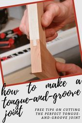 How to Make a Tongue-and-Groove Joint