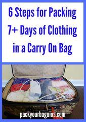 6 Schritte zum Verpacken von mehr als 7 Tagen Kleidung in einer Handgepäcktasche   – moving/travel