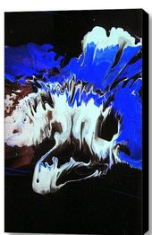 Abstract Resin Art Triptych Painting on Canvas A by HalfBakedArt  – Alternative Abstraction