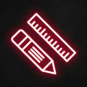 Icone De Regle De Crayon Dans Le Style Neon Crayon Regle Stylo Fichier Png Et Psd Pour Le Telechargement Libre Wallpaper Iphone Neon App Logo Pink Neon Wallpaper