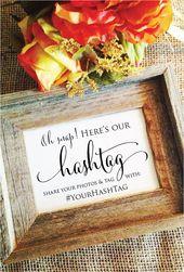 Oh snap teken, bruiloft hashtag teken, hashtag bruiloft teken oh snap bruiloft teken rustieke bruiloft decor-deel uw Foto's (frame niet inbegrepen)