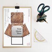 Erstes Jubiläumsgeschenk, 3D-bedruckbares Papier, individuell bedruckbare Wörter, personalisierte druckbare Zitatblöcke, erschwingliches Bürogeschenk für ihn   – Products