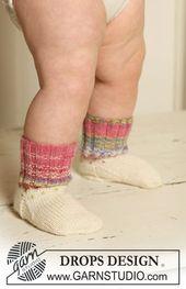Carnival Star Socks / DROPS Baby 19-28 – Gratis st…