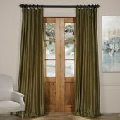 Willa Arlo Interiors Forbell Solid Vintage Textured Faux Dupioni Silk Room Darkening Rod Pocket Curtains
