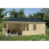 Photo of 705 cm x 300 cm Garden House Chaim Garden Living Roof: Rectangular Brown, Foundation: With foundation, Floor: With floor – 18 mm