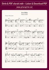 Mustafa Sandal Jest Oldu Gitar Nota Tab Gitaregitim Net Notalara Dokulmus Muzik Muzik Notalari Flut