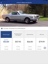 Cost For An Oil Change For A 1966 Ford Mustang Gt With 289 Cubic