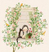 Bild geteilt von Naty. Finden Sie Bilder und Videos über Mädchen, Blumen und Katzen auf We H ….