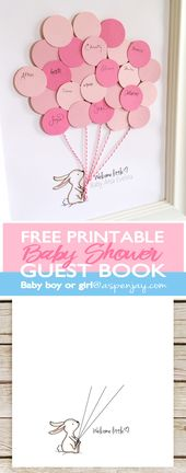 Bunny Baby Shower Guest Book Printable – PRINTABLES