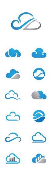 Vector Cloud Technology Logo Template
