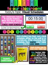 Visible Schedules for Autism and Particular Training School rooms