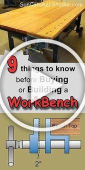 Workbench plans. Contains concepts and designs for a storage workbench, canine holes, vise, transportable and ho…