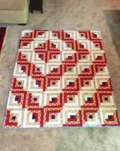 FO: Log Cabin Quilt : quilting