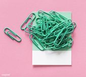 Paperclips on a piece of paper | free image by rawpixel.com