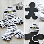 This yarn-wrapped mummy boat is perfect for little #dies