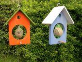 Futterhaus Meisenfutter Meisenknödel Haus orange #weihnachtsmarktideenverkauf F…