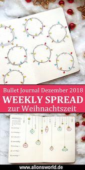 Bullet Journal Dezember Weekly Spread