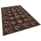 Turkish Handmade Handgefertigter Teppich in Schwarz Blue Elephant