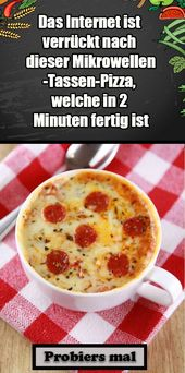 Microwave Cup Pizza – Ready in 2 minutes,  #Cup #microwave #minutes #Pizza #Ready