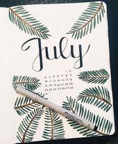 Themen im Bullet Journal vom 20. Juli werden Sie zum Ausprobieren begeistern