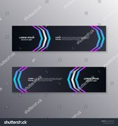 Technology Banner Template, Abstract Dark Neon Background suitable for web header, footer, advertising vector design #Ad , #Affiliate, #Dark#Neon#Back…