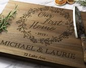 Our First Home Custom Cutting Board – First Home Gift – New Home Gift – Housewarming Gift – Cutting Board