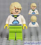 Boy Kids Minifigure w// Dark Blue Plaid Button Shirt /& Dark Orange Hair LEGO
