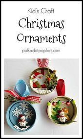 Christmas Decoration Scenes to create together with your youngsters. #kidscrafts #christmascrafts…