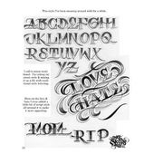 LETTERS TO LIVE BY VOLUME #1 Tattoo Script Lettering Sketchbook Flash Book by Big Sleeps (55 Pages) – tattoo