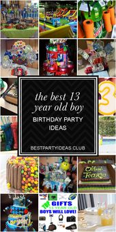 The Best 13 Year Old Boy Birthday Party Ideas