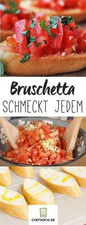 Bruschetta mit Tomaten und Knoblauch. Mit Video vo…