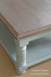 Country to Beach Chic Coffee Table Makeover –