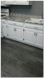 Choose Simple Laminate Flooring In Kitchen And 50 Ideas The Urban Interior Laminate Flooring In Kitchen Grey Kitchen Floor Grey Flooring