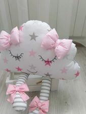 Cloud-Kissen, Cloud-Kissen, Kissen Wolke, Kinderzimmer Dekor, Baby-Dusche-Mädchen-Geschenk