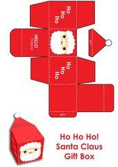 """""""Er ist hübsch!"""" Paul, 4 Jahre alt. ¶¶¶ Eine kleine Santa Box zum Ausdrucken   – Dekoration weihnachten basteln"""