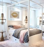 65 Cute Teenage Girl Bedroom Ideas: Stylish Teen Girl Room Decor (2019)   – Home Renovation Try It For Yourself