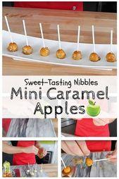 Hausgemachte Mini-Karamell-Äpfel: Süße Knabbereien am besten auf …   – Make Good Things