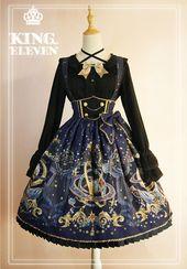 König Elf – Der Dämonenkönig dieses Universums – Lolita Rock mit hoher Taille Salopette  – Outfits