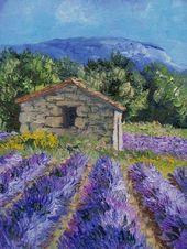 Lavender – Annie Riviere Maler Landschaft Provencal