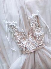 Bridal dress Wedding dress Open back wedding dress White dress Dress for bride Dress for wedding day Designers wedding dress Hand made dress